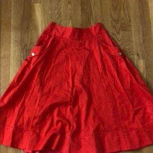 ASOS red skirt US 6